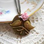 Kissing Couple Pendant - Bi..